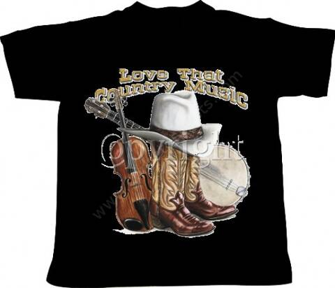 LOVE THAT COUNTRY MUSIC mens black t-shirt