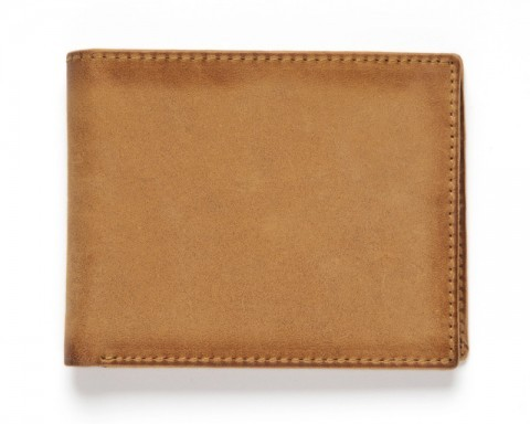 Sand colour tanned leather classic western wallet
