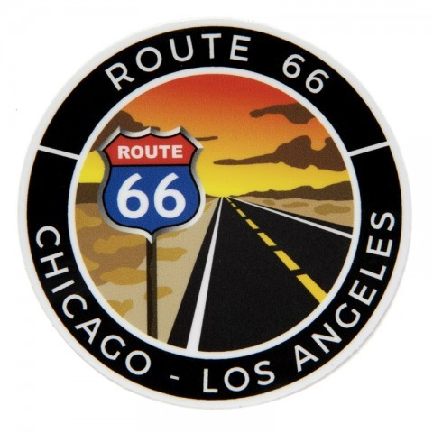 Chicago - Los Angeles journey rounded Route 66 sticker