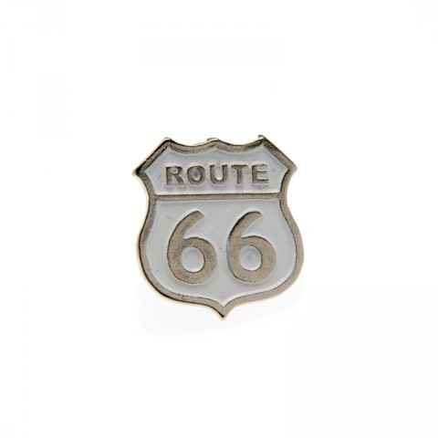 White Route 66 pin
