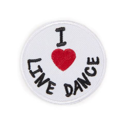 I Love Line Dance rounded patch