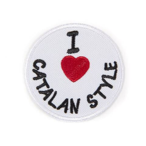 I Love Catalan Style round patch