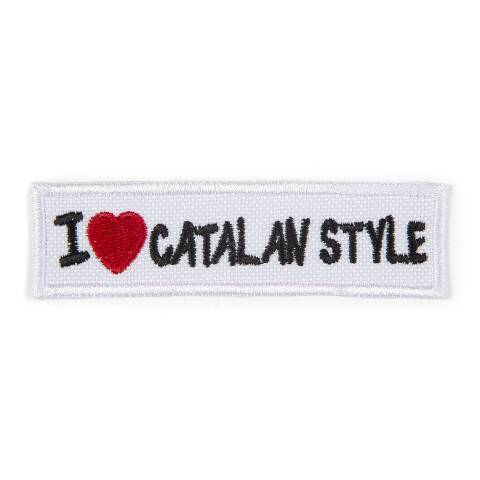 I Love Catalan Style rectangular patch