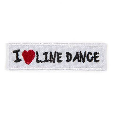 I Love Line Dance rectangular patch