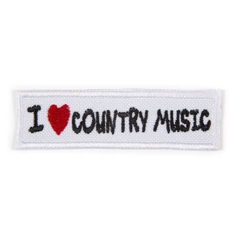 I Love Country Music rectangular patch