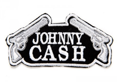 Johnny Cash clothing patch with crossed guns