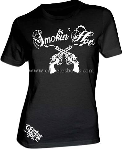 Ladies SMOKIN HOT black western t-shirt