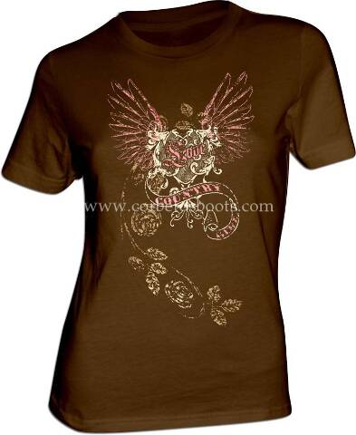 Ladies COUNTRY GIRL brown t-shirt