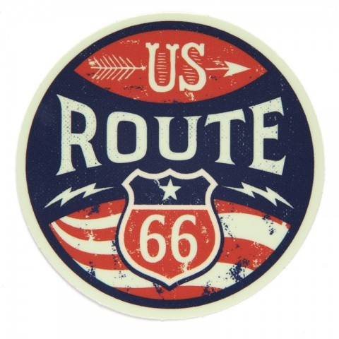 Vintage look Route 66 road sign sticker
