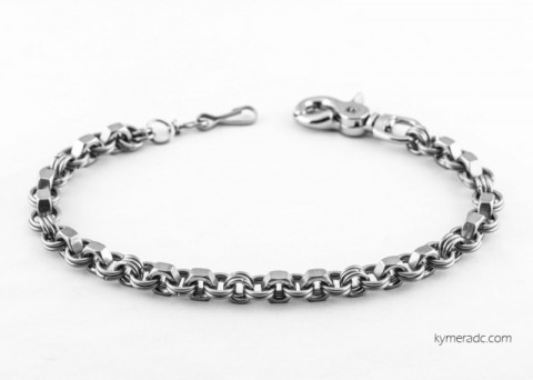 Stainless steel nuts and rings biker wallet chain