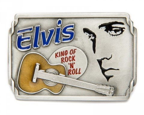 Vintage style rectangular Elvis Presley belt buckle