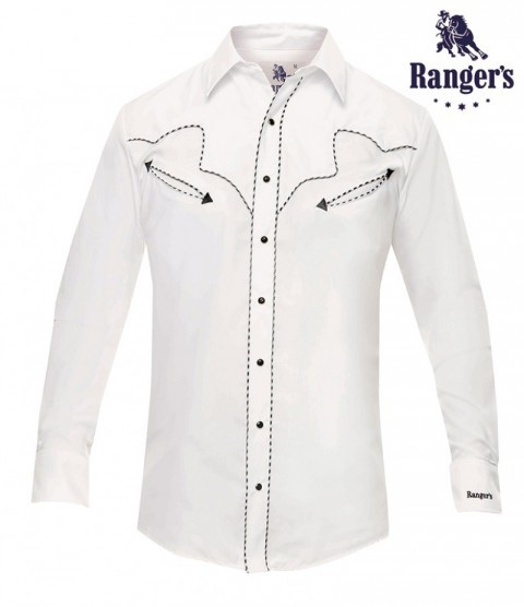 White basic long-sleeve cowboy Ranger