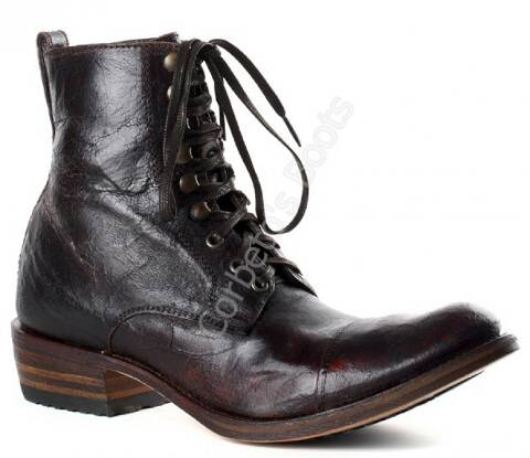 Sendra Boots mens distressed leather laced ankle boots
