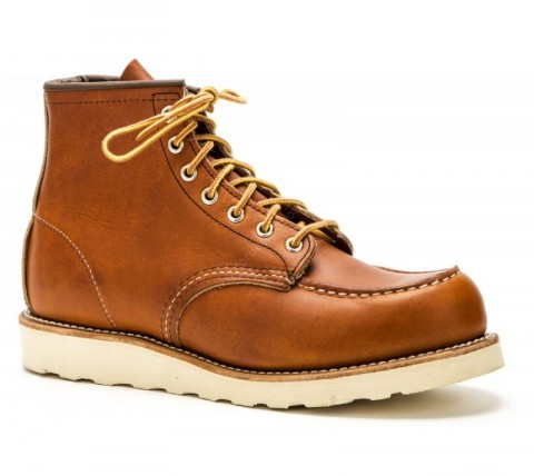 Red Wing mens natural leather laced work boots for men