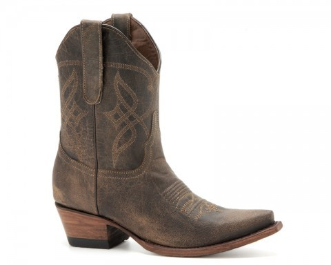 Women midcalf Mexican western fashion brown leather boots