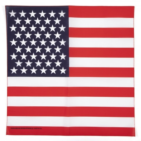 United States of America flag desing bandana 100% cotton MADE IN USA. The perfect bandana for line dancers and bikers