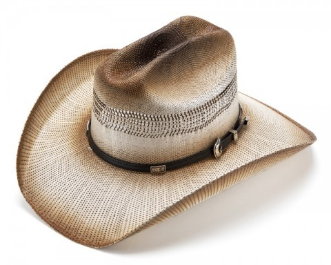 Vented double braided Cattleman straw cowboy hat