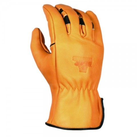 Waterproof natural colour leather work gloves