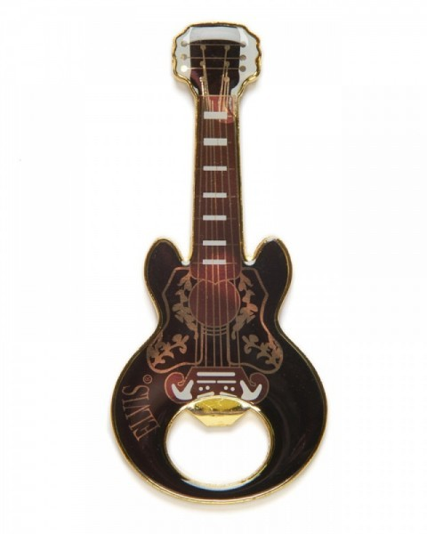 Magnetized Elvis guitar bottle opener