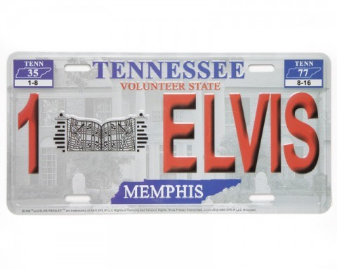 Tennessee State Elvis Presley license plate
