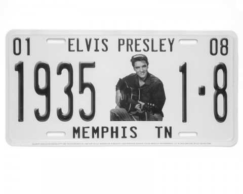 Elvis birth date vintage license plate