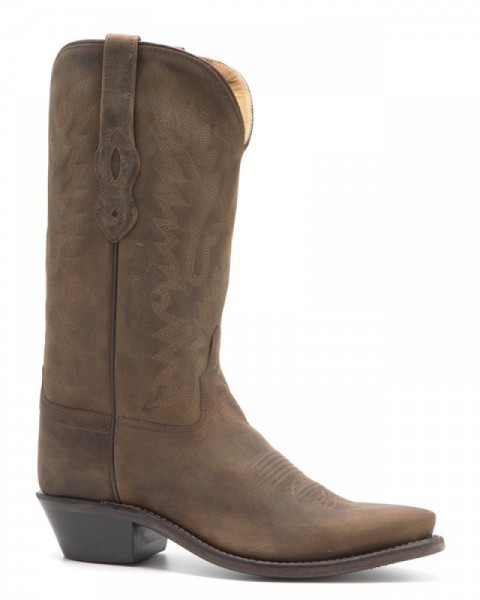 Economic line ladies tanned brown leather western boots