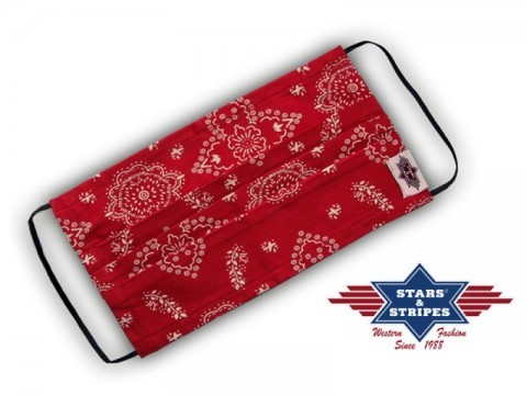 Stars & Stripes red bandana style cowboy cotton unisex protective face mask