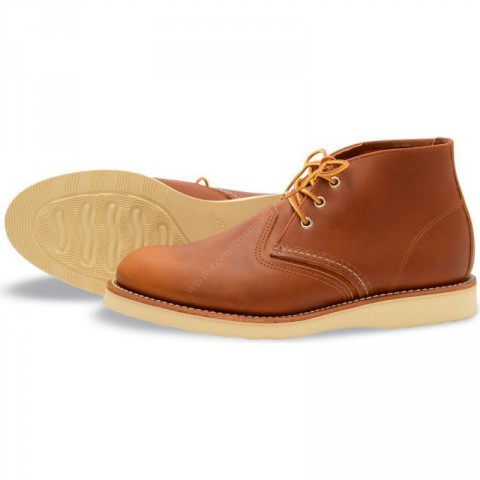 Red Wing mens natural leather laced shoes